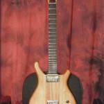 chitarra set neck trought, corpo in Salice, manico in Mogano Kaya, tastiera in Ebano. Manico tipo classica 52mm capotasto